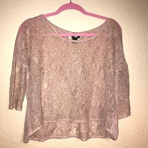 H&M lace and mesh blouse